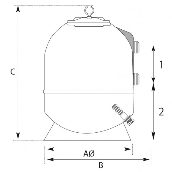 Dimensiones filtro Alaska QP