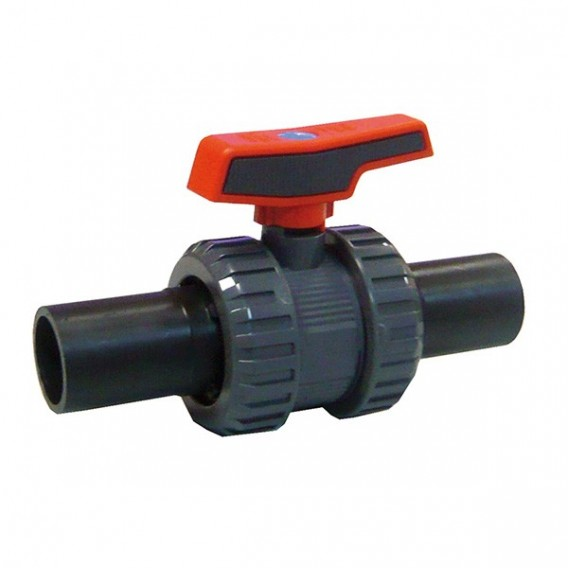 Válvula de bola [STD] PVC-U PE100 soldadura a tope