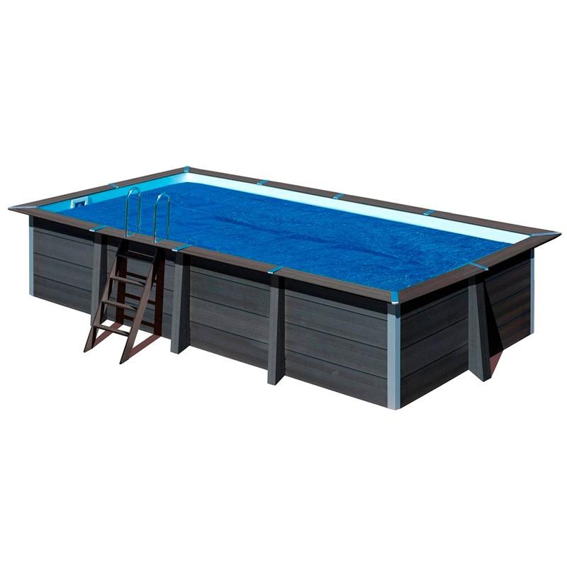 Cubierta isot rmica piscina composite gre rectangular for Piscina composite