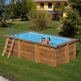 Piscina de madera Gre Sunbay Marbella rectangular