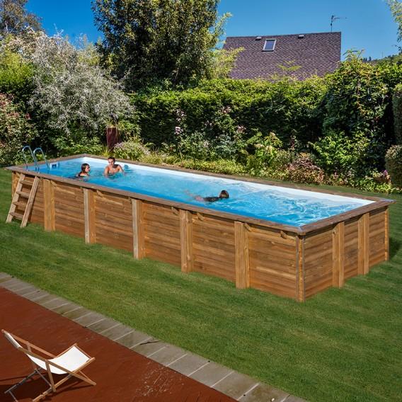 Piscina de madera Gre Sunbay Anise rectangular