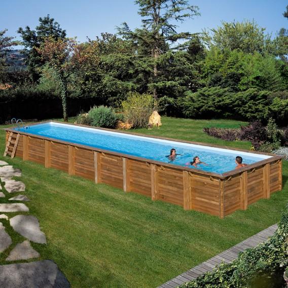 Piscina de madera Gre Sunbay Cardamon rectangular