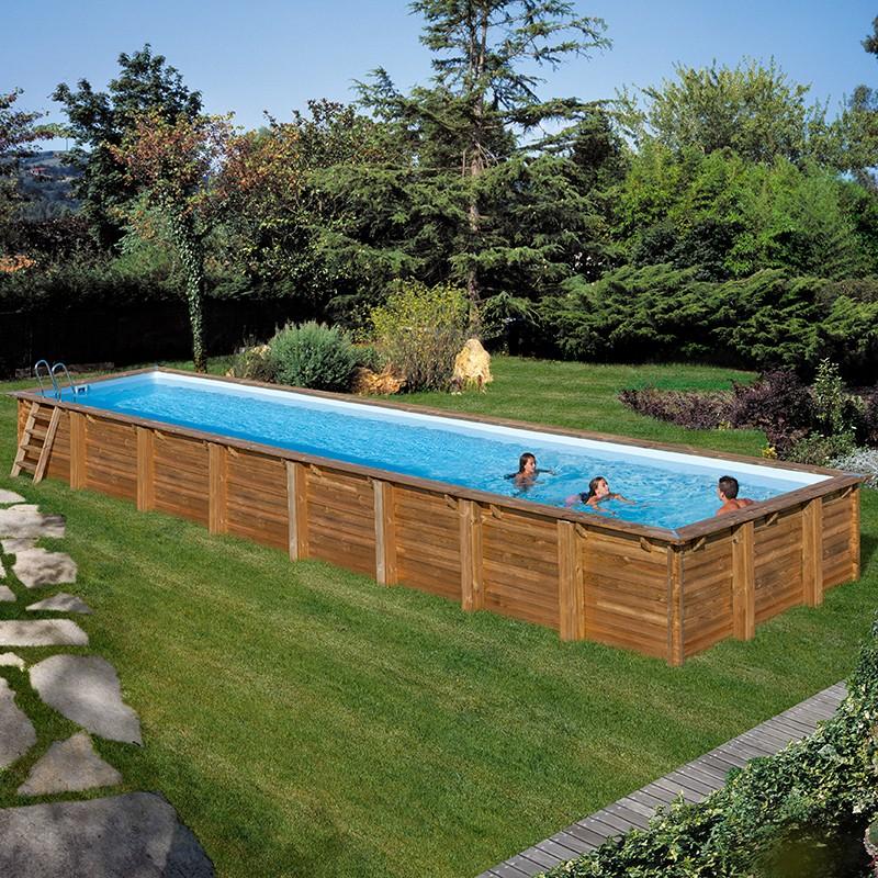 Piscina de madera gre sunbay cardamon rectangular - Piscinas desmontables de madera ...