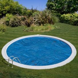 Cubierta isotérmica para piscina enterrada Gre redonda