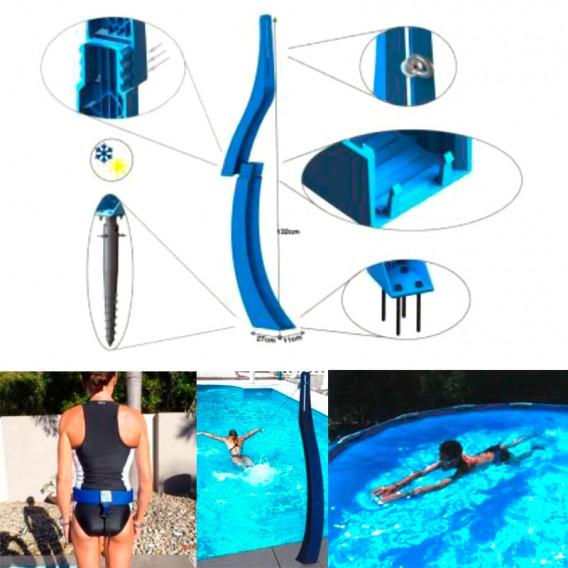Montaje nadador estático Gre Elastic Swimmer PTR84