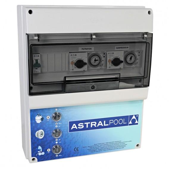 Armario maniobra 2 bombas y control iluminación transf. 300W AstralPool