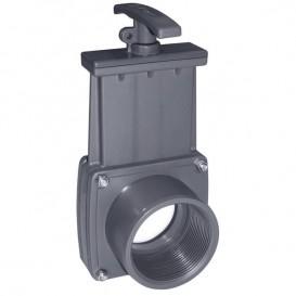 """Válvula de guillotina roscar hembra 1½"""" x encolar Ø50"""
