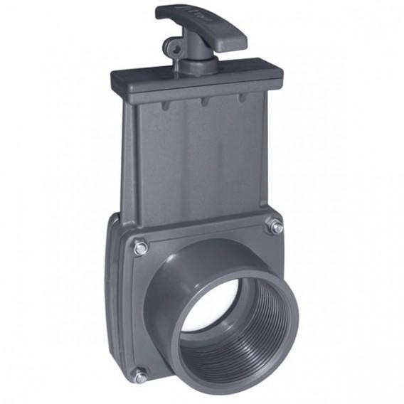 """Válvula de guillotina roscar hembra 1½"""" x espiga Ø50"""