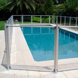 Módulo de 1,25 m para valla piscinas Flash Transparent