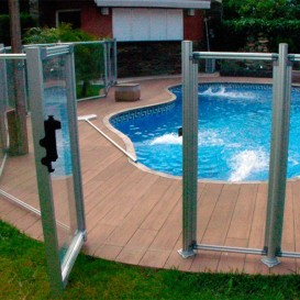 Módulo de 1,25 m con puerta para valla piscinas Flash Transparent