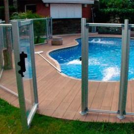 Módulo de 1,25 m con puerta para valla piscinas Flash Transparent