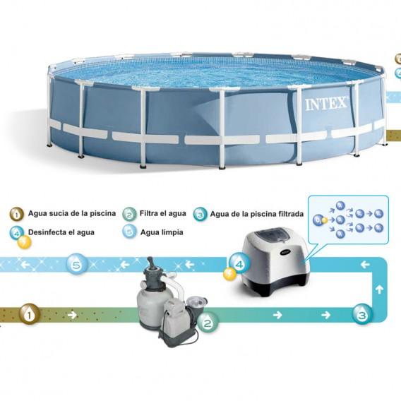 Instalación clorador salino y ozono Intex 26666