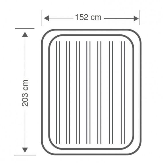Dimensiones Intex PremAire 64770