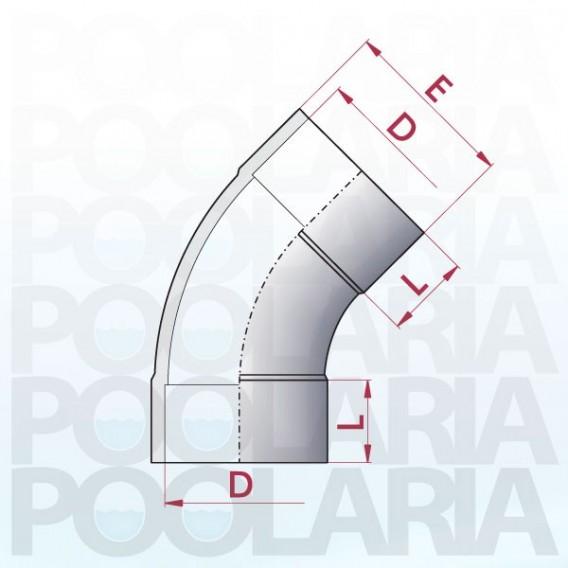 Curva 45º PVC encolar