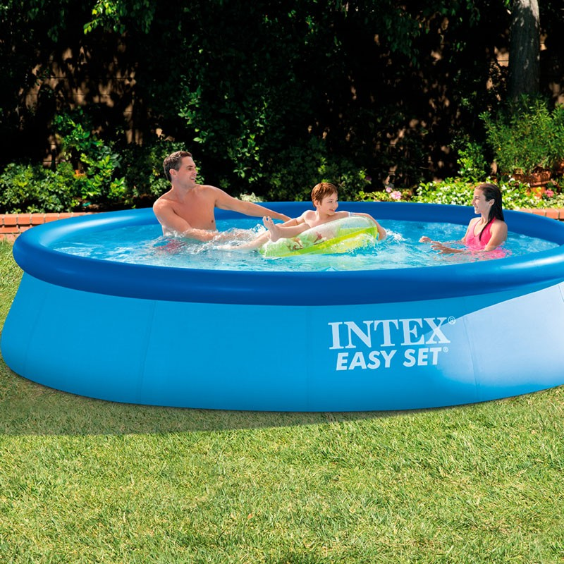 Piscina intex easy set 366x76 con depuradora 28132np for Piscina jardin depuradora