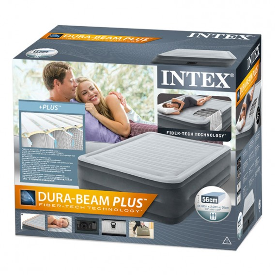 Cama hinchable Intex Comfort-Plush High Rise Dura Beam doble 64418