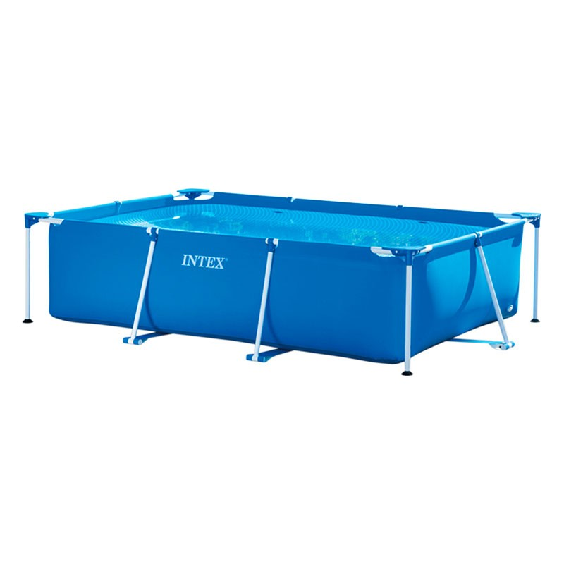 Piscina intex small frame 220x150x60 28270np poolaria for Piscinas rectangulares intex