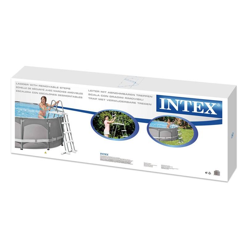 Escalera intex 122 cm con plataforma 28076 poolaria for Accesorios piscinas intex