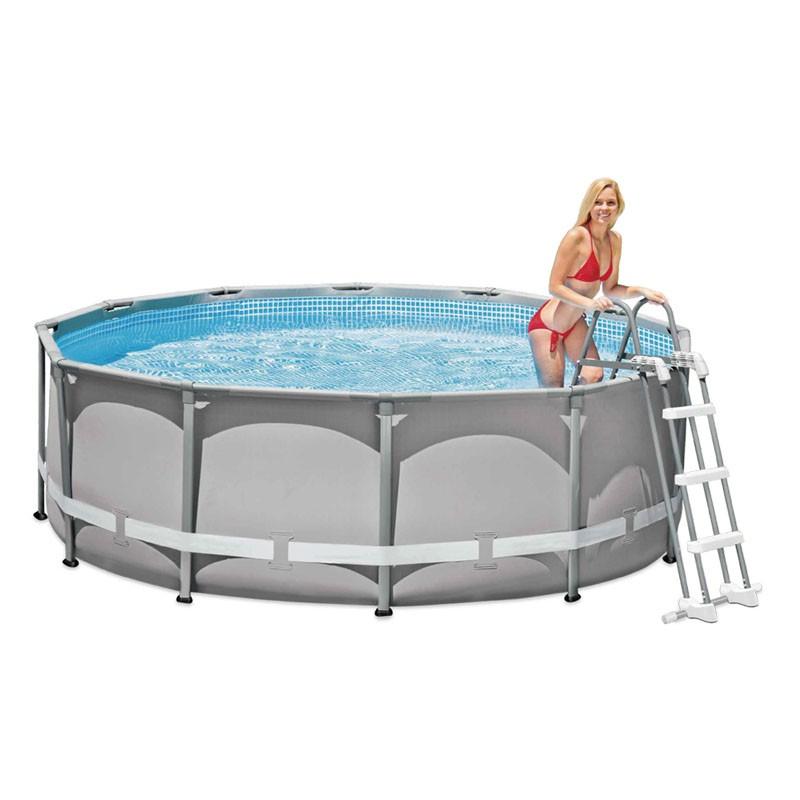 Escalera piscina desmontable intex 91 107 cm 28075 poolaria for Escalera piscina bricodepot