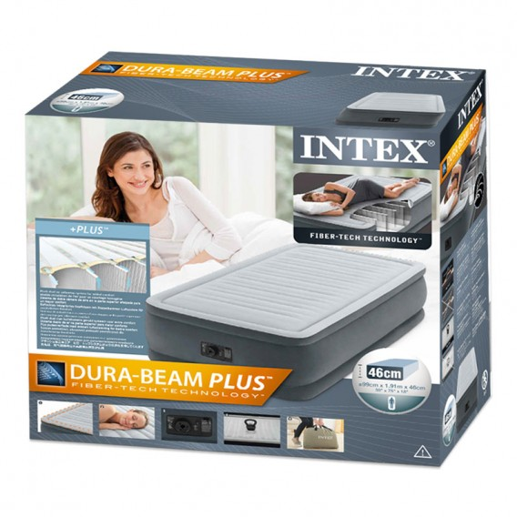 Cama hinchable Intex Comfort-Plush Elevated Dura Beam individual 64412