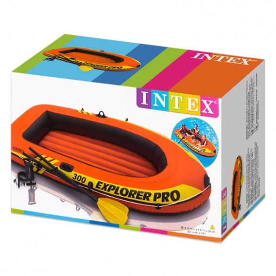 Bote hinchable Intex Explorer Pro 300 con remos y bomba 58358NP