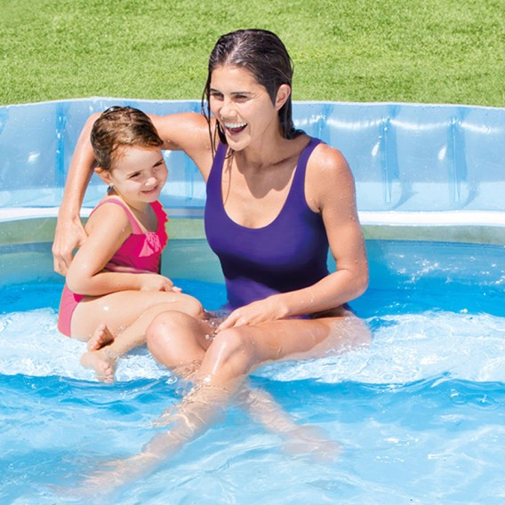 Piscina hinchable familiar Intex con banco 224x216x76 57190NP