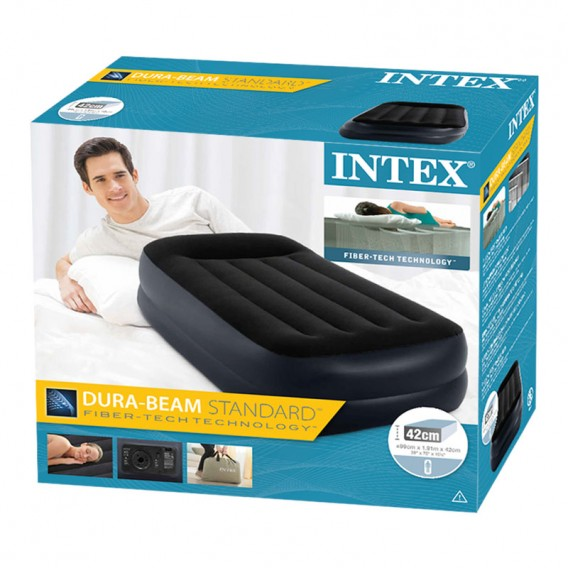 Cama hinchable individual Intex Pillow Rest Raised Bed 64122