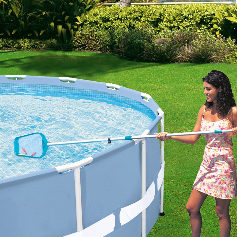 Kit de mantenimiento piscinas con mango telesc pico intex for Mantenimiento de piscinas desmontables