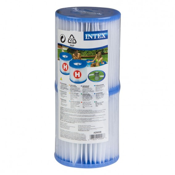 Pack 6 cartuchos Intex tipo H para depuradora piscina 29007