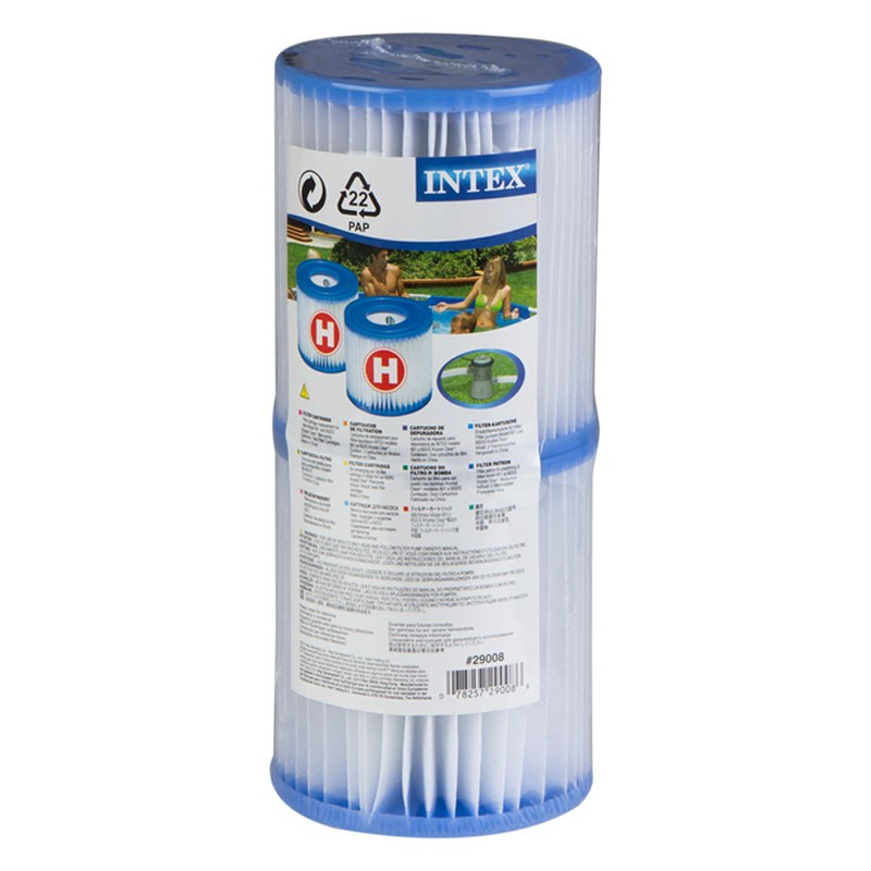Pack 6 cartuchos intex tipo h para depuradora piscina for Depuradora para piscina hinchable