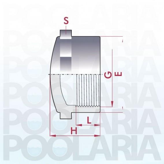 Tapón PVC rosca hembra