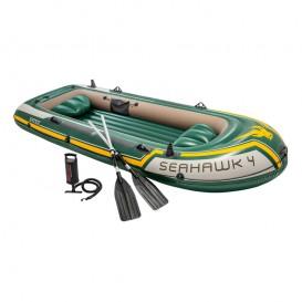 Bote hinchable Intex Seahawk 4 con remos y bomba 68351