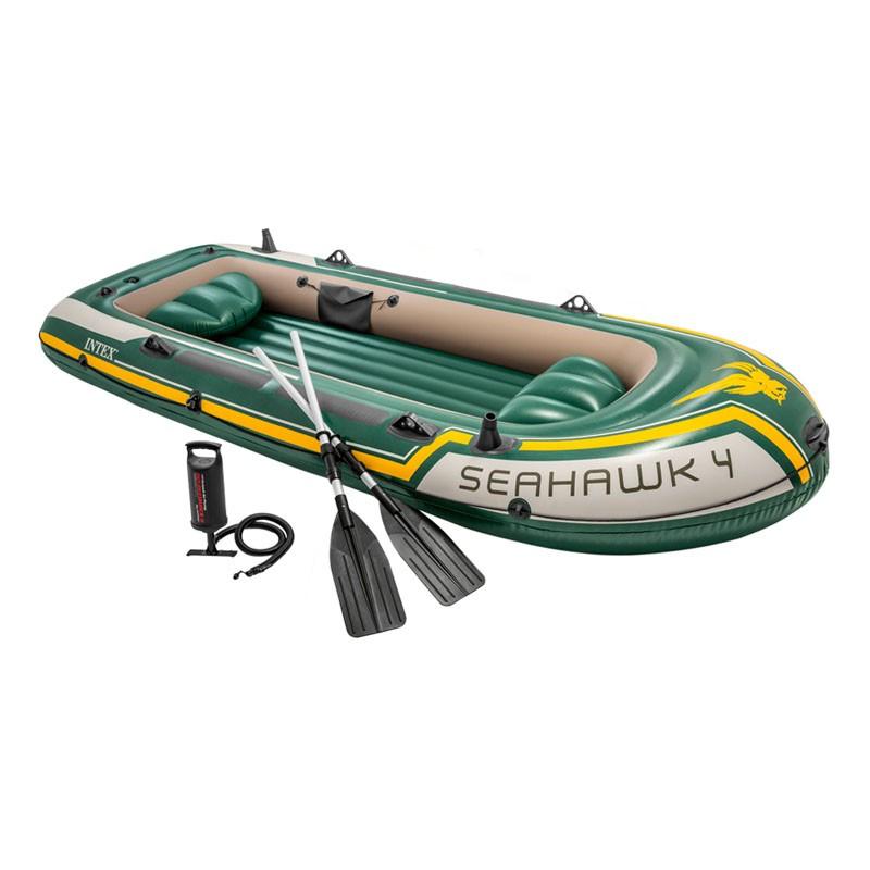Bote hinchable intex seahawk 4 con remos y bomba 68351np poolaria - Intex hinchables ...
