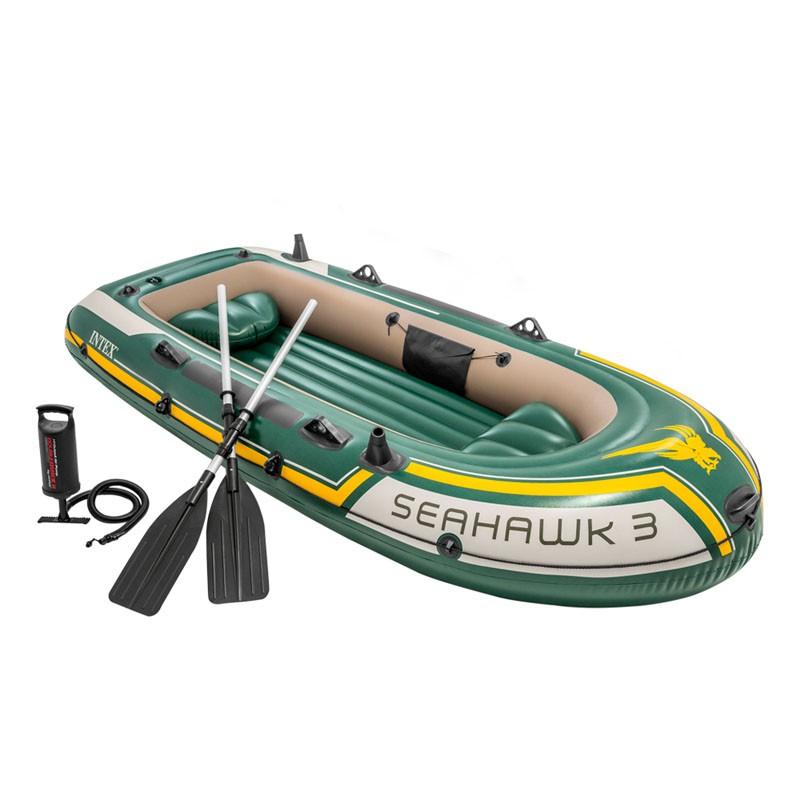 Bote hinchable intex seahawk 3 con remos y bomba 68380np poolaria - Intex hinchables ...