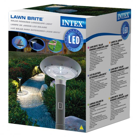Lámpara LED solar de jardín Intex 28689