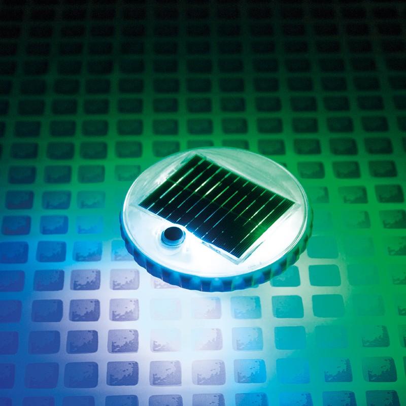 Luz led flotante solar intex para piscinas 28695 poolaria for Piscinas desmontables verdecora