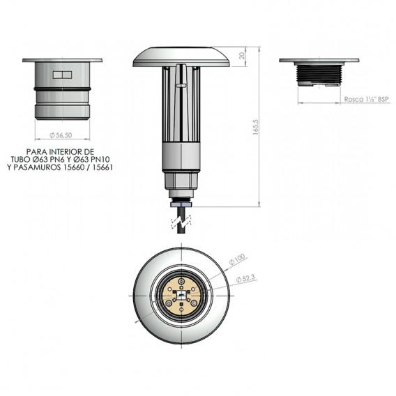 Dimensiones LumiPlus Mini V3 AstralPool