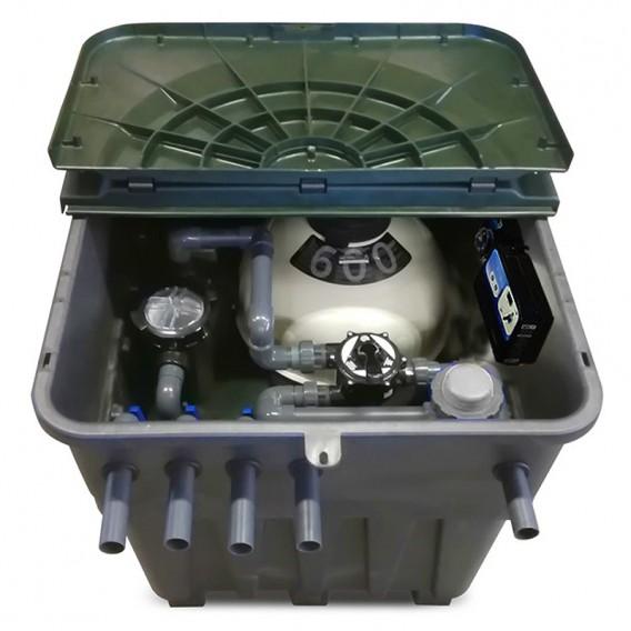 Compacto enterrado Keops con filtro y bomba