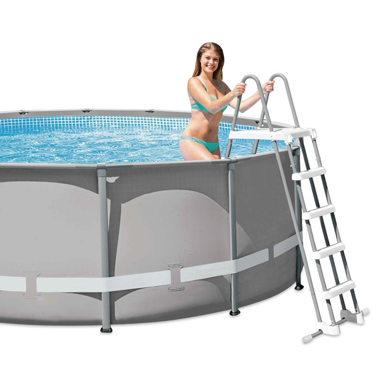 Escalera piscina desmontable intex 132 cm 28077 poolaria for Montar piscina desmontable