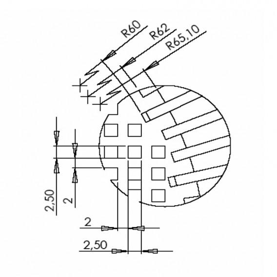 Detalle malla prefiltro en polipropileno + FV 8 litros