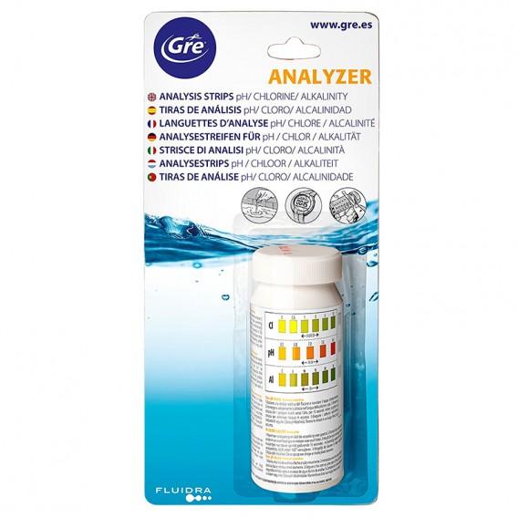 Tiras de análisis Gre cloro pH alcalinidad 40068