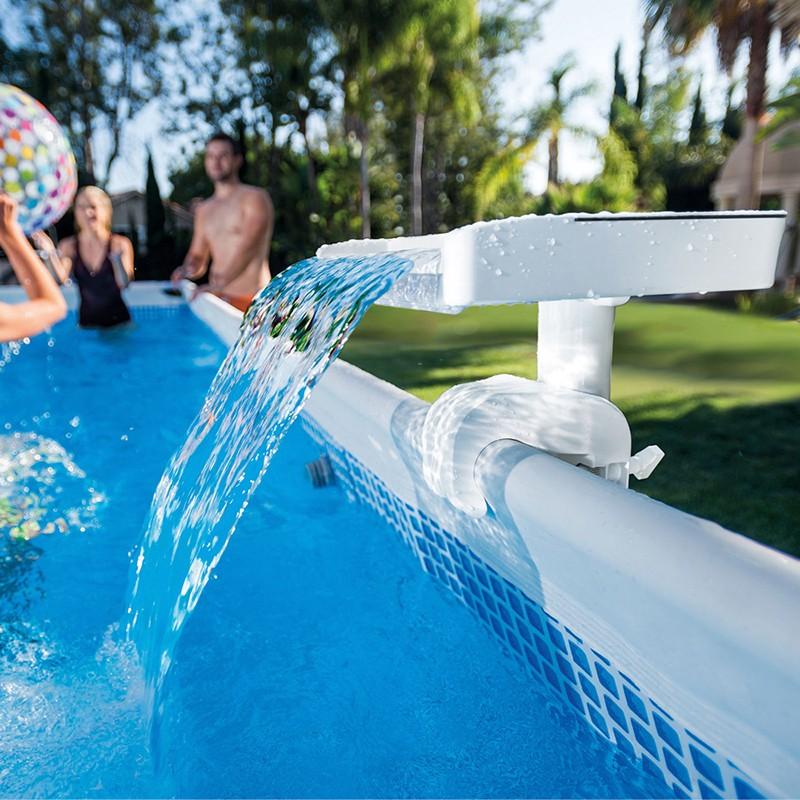 Cascada con led multi color para piscina intex 28090 for Accesorios piscinas intex