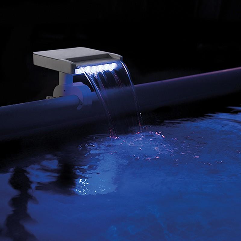 Cascada con led multi color para piscina intex 28090 for Accesorios para piscinas cascadas
