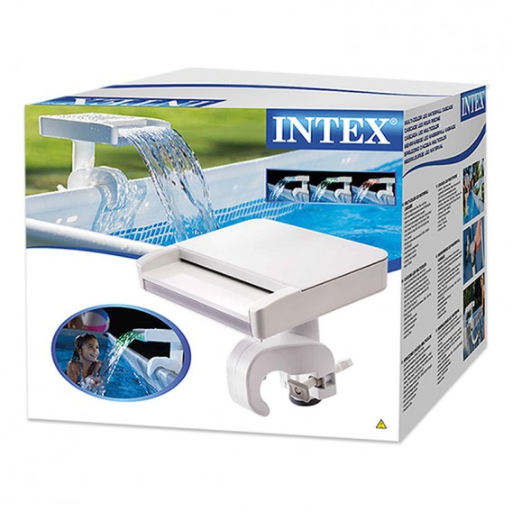 Cascada con LED multi-color para piscina Intex 28090