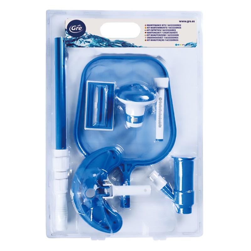Kit de mantenimiento piscina 6 accesorios gre 784880 for Kit limpieza piscina