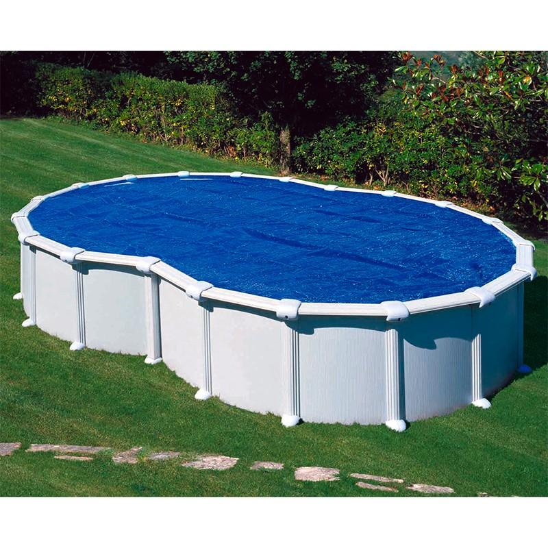 Cubierta isot rmica para piscina gre en ocho poolaria for Cubierta piscina desmontable