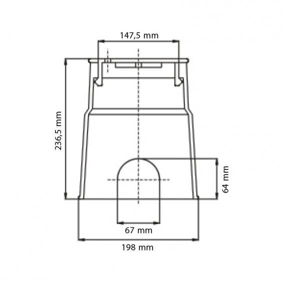 Dimensiones arqueta circular Eco tapa a presión Serie AQ