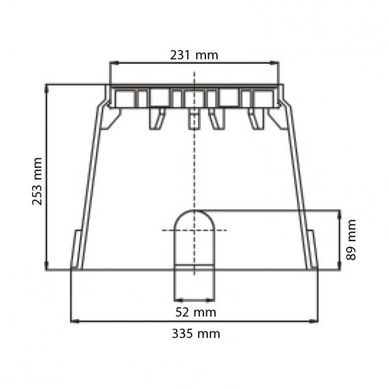 Dimensiones arqueta circular Eco tapa a bayoneta Serie AQ