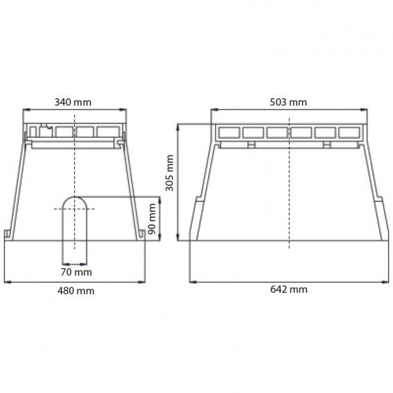 Dimensiones arqueta rectangular Eco jumbo Serie AQ