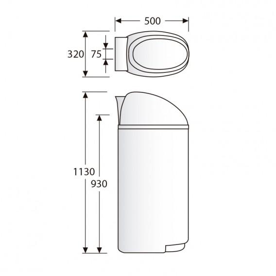 Dimensiones descalcificador Compact 700 30 litros
